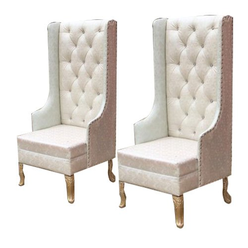 White Bride + Groom Reception Chairs