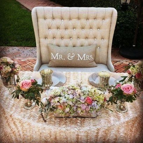 Sweetheart Bride + Groom Reception Chair