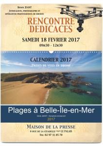 affiche dédicaces calendrier 2017 Le Palais