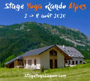 stage yoga rando Alpes Montagne