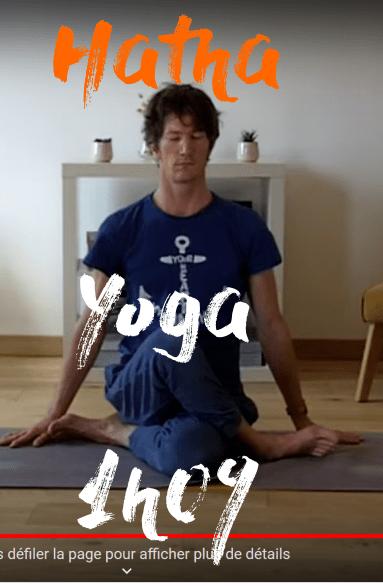 cours de yoga en ligne  1 heure 09