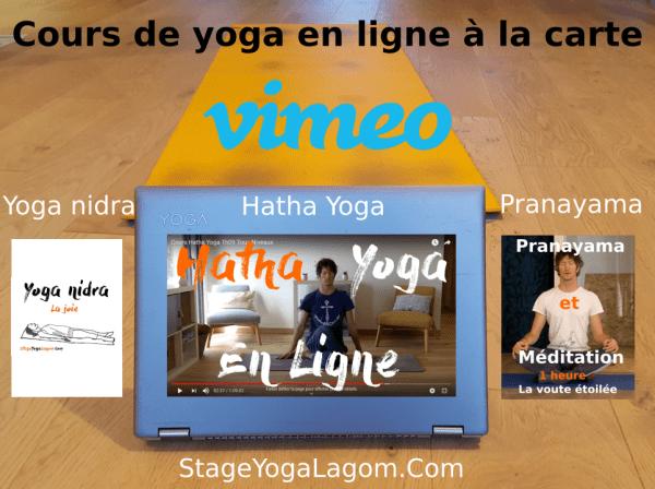 cours yoga en ligne à la carte