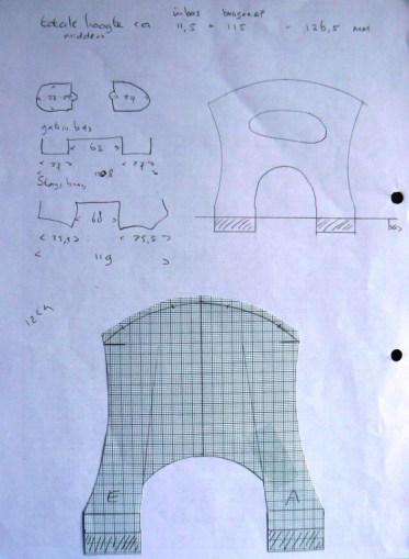 Some of the sketches I made while designing the new bridge