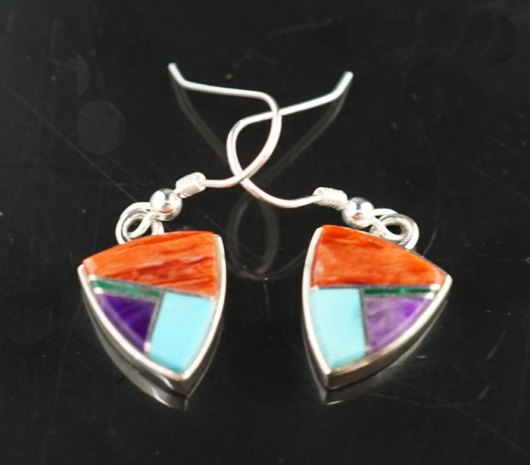 Earl Plummer Sterling Silver Multi-material Earrings