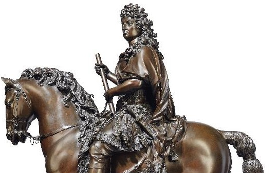 Louis XIV on horseback