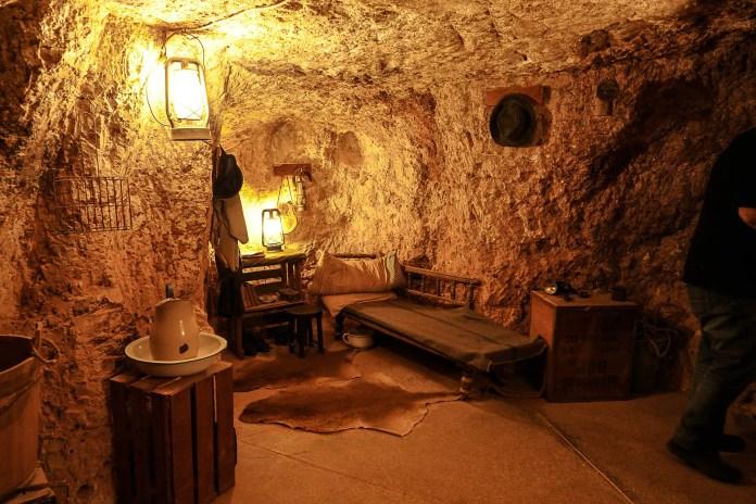 An underground house in Coober Pedy