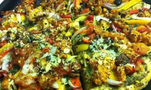 AMAZING Vegan Pizza with Cauliflower 'N Walnut Crumble