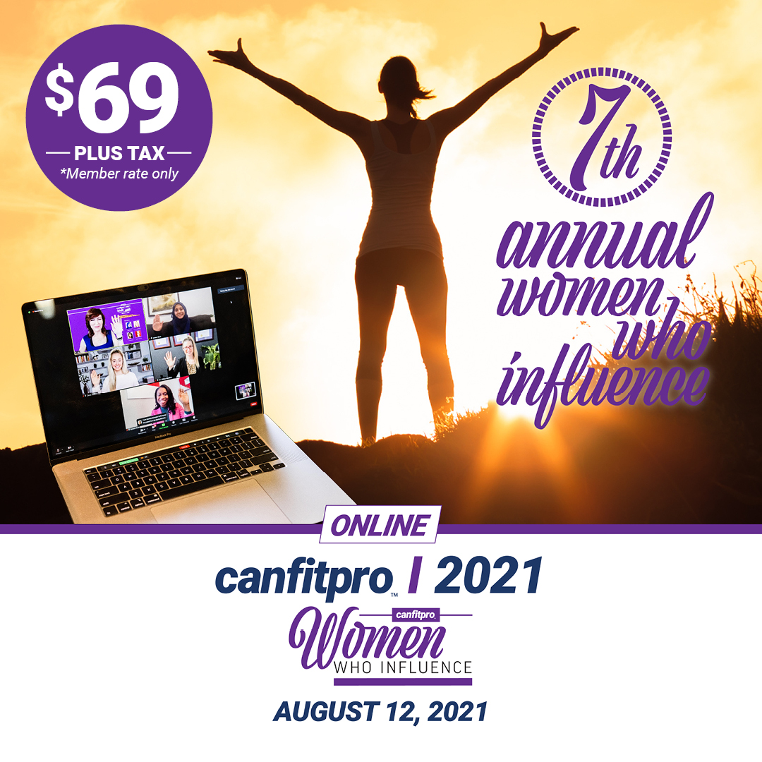 canfitpro events 2021 | Women Who Influence