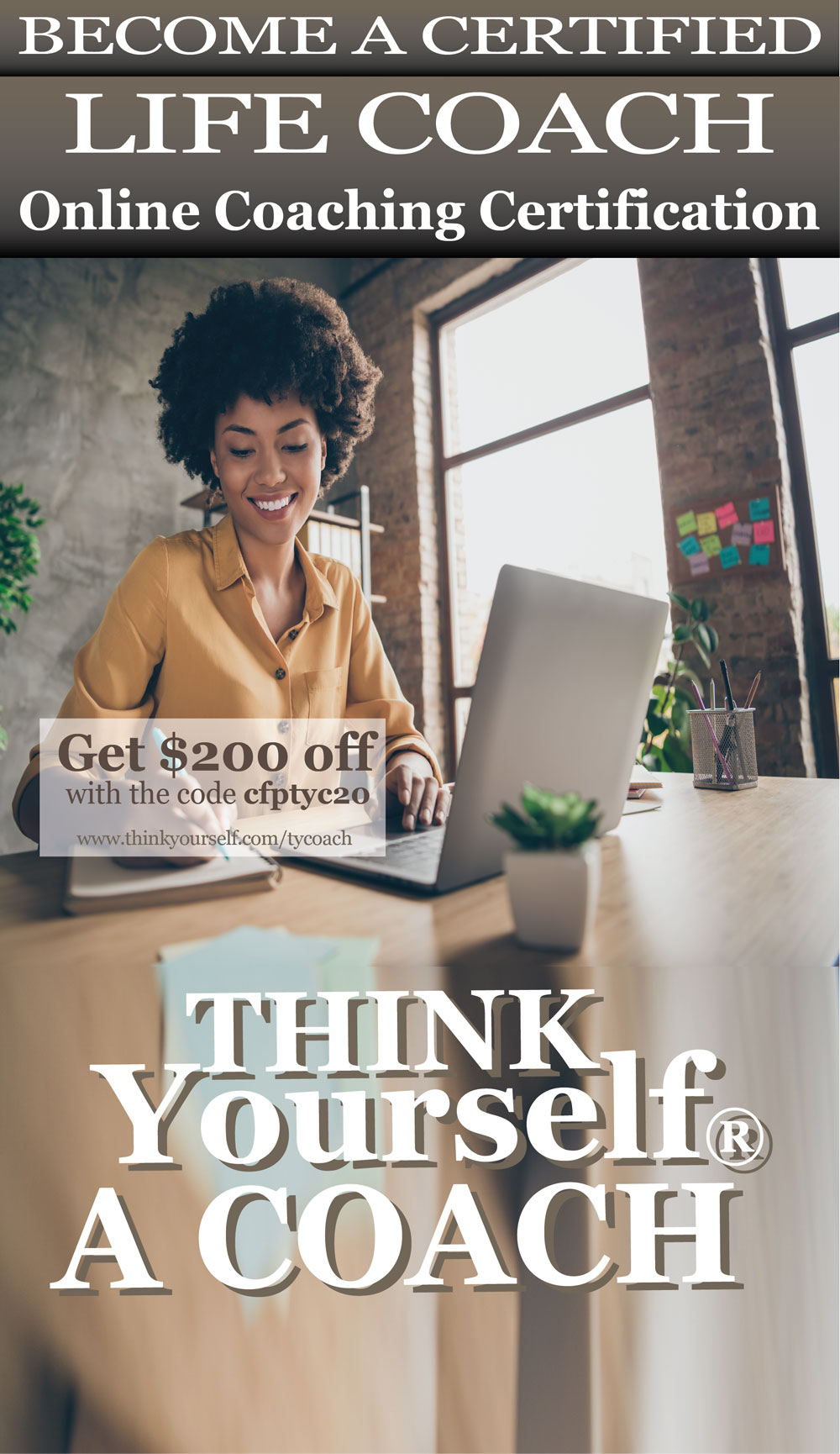 Think yourself academy carousel ad banner