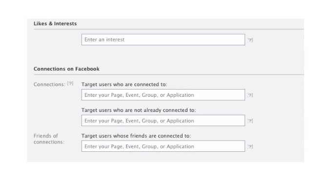 targeting likes and interests through facebook ads