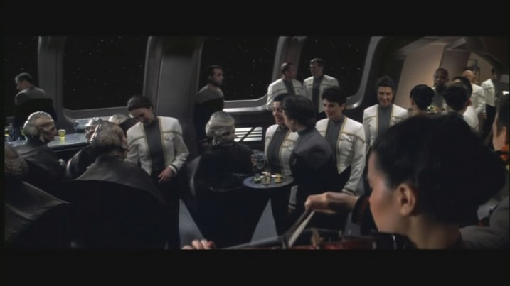 An out-of-control shindig on the Enterprise...