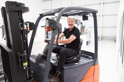 A Happy Forklift Operator