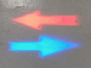 Red & Blue Arrow LED Pedestrian Warning Light