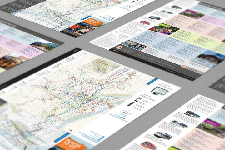Places to Go Map-Fold Brochure