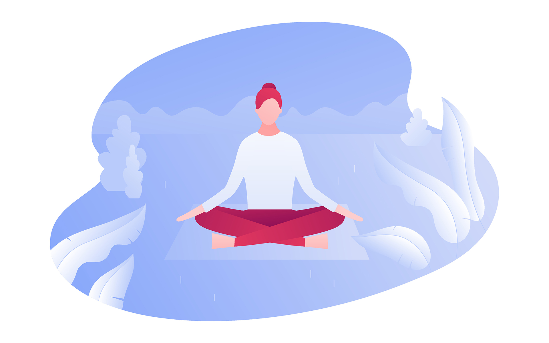 Cultivating strength and stability - illustration of a women seated in meditation