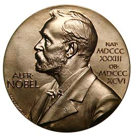 A picture showing a Nobel medal.