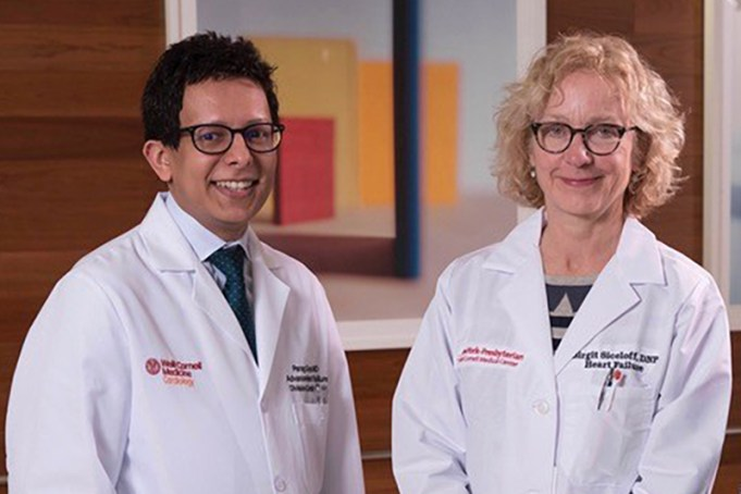 Dr. Parag Goyal and N.P. Birgit Siceloff from Weill Cornell Medicine standing side by side.
