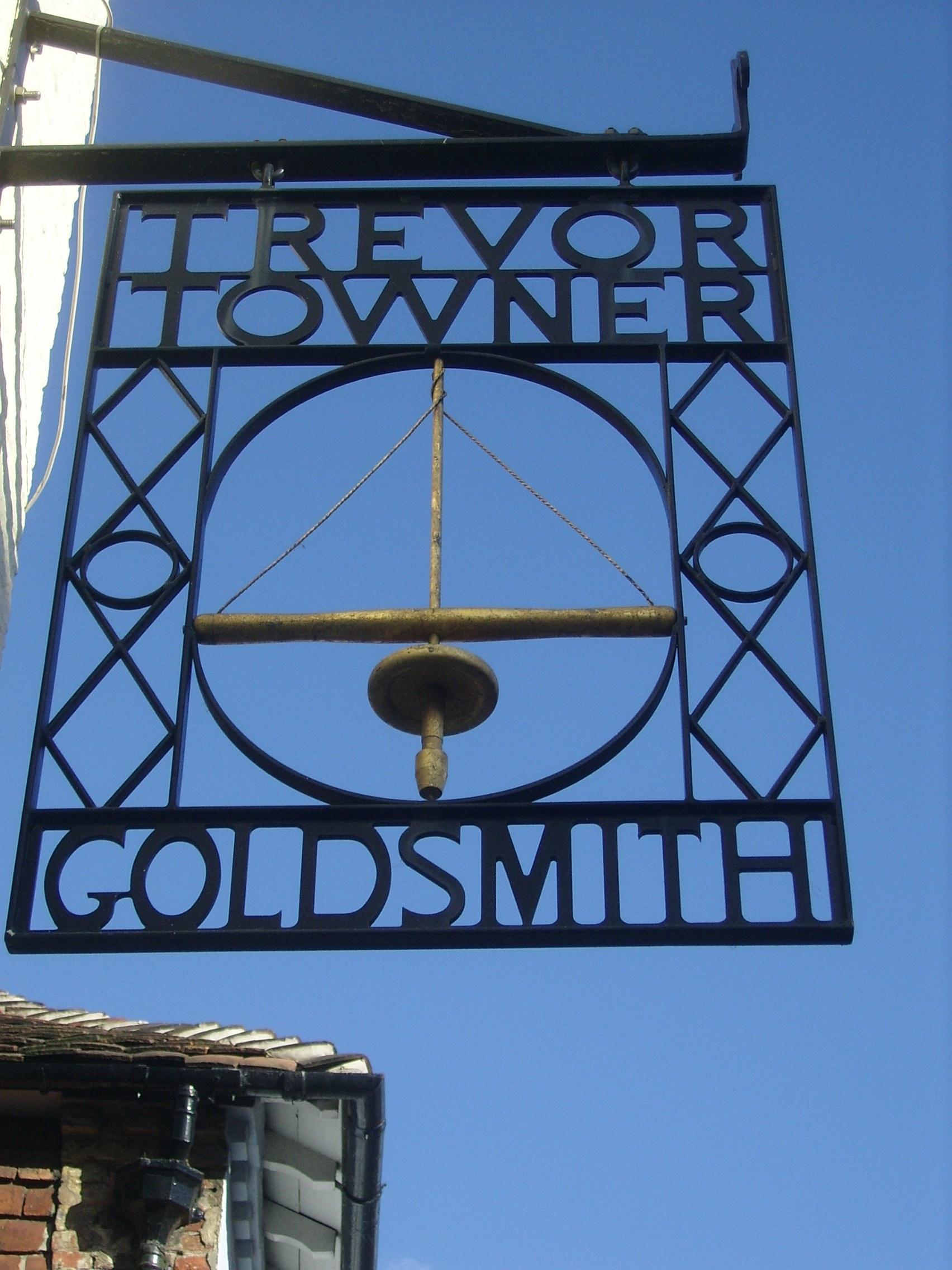 Trevor Towner Goldsmith Sign