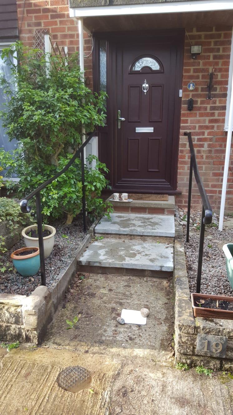 Front Door hand rails