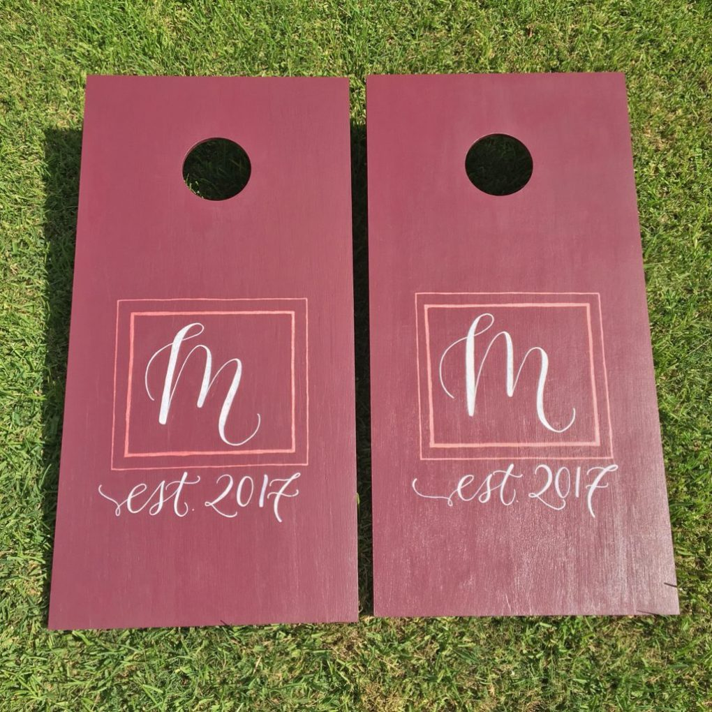 Wedding Cornhole Boards - Play Backyard Games