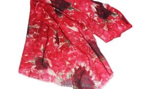 Handmade mix shawl with digital print