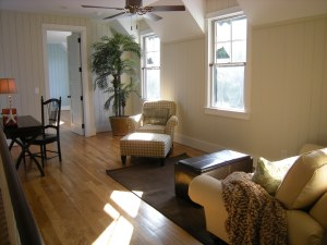 staged sitting area