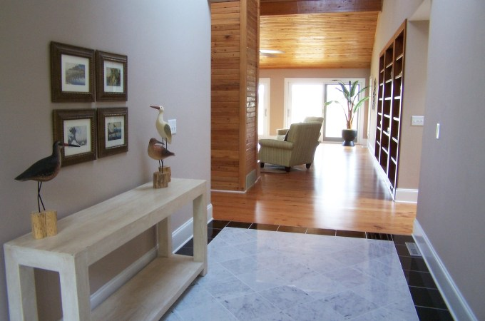 staged foyer