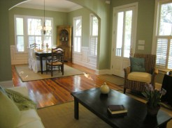 staged open floor plan