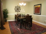 staged transitional dining room