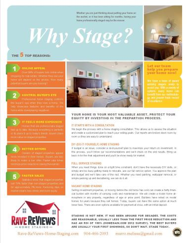 why should you have your home professionally staged
