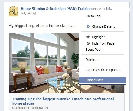 home staging social media