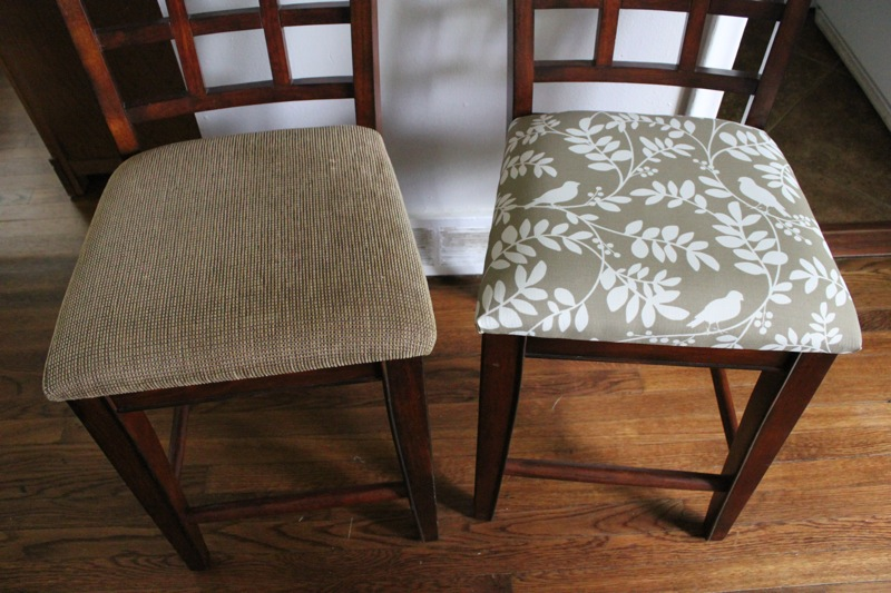 RE UPHOLSTER DINING CHAIRS