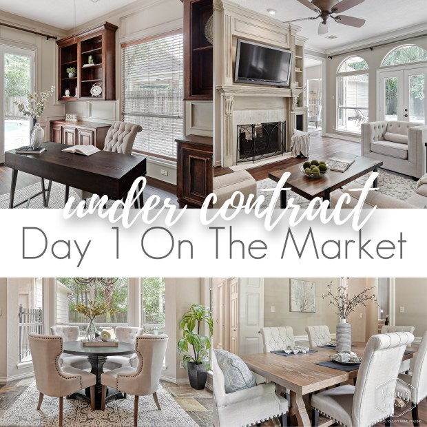 Staging The Nest - Vacant Home Staging - The Woodlands - Houston - Under Contract - Sold - Staging Stats