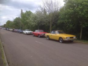 Rog Kennedy Beds area at the end of the run on drive it day at Stilton