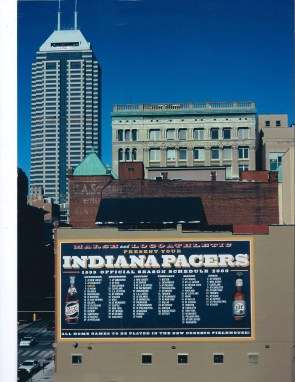 Original Pacer Schedule Wall