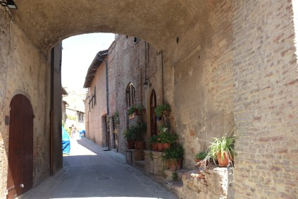 Middle-age town Certaldo Alto