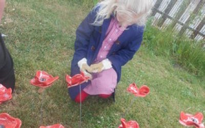 Memorial Service and Poppy planting