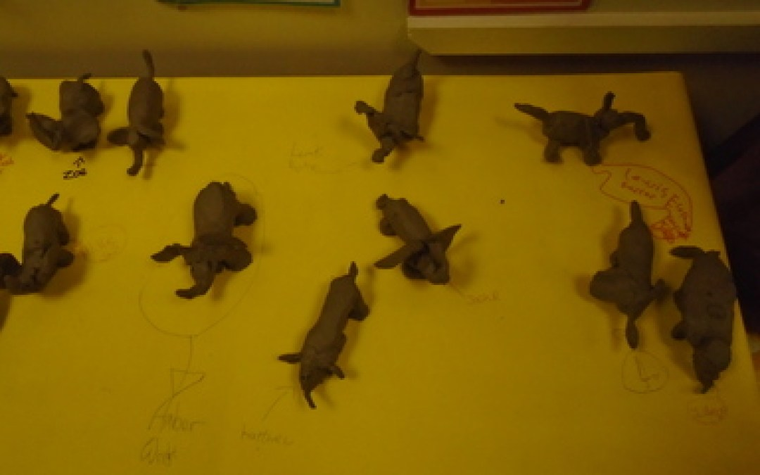 Take One Picture- Clay Elephants