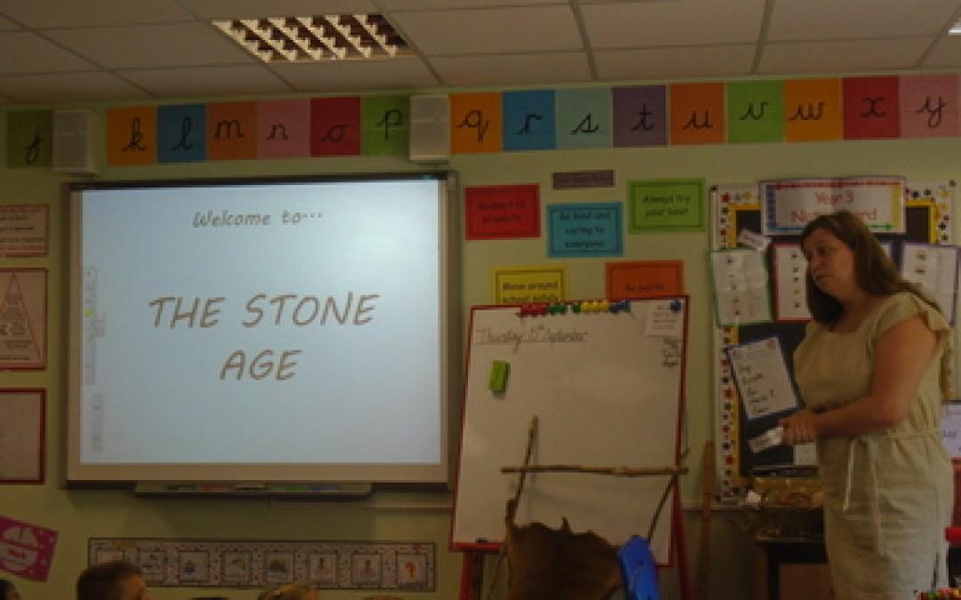 Stone Age Jo visits Year 3!