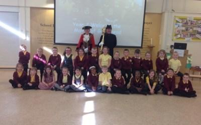 The Mayor of Gateshead visits St Aidan's