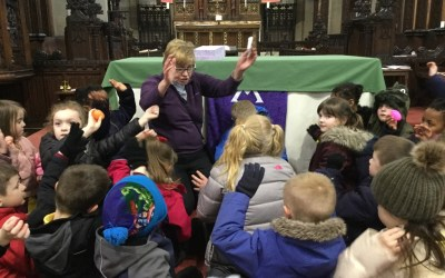 Year 1 Visit St Chad's Church to Look for Signs of Easter