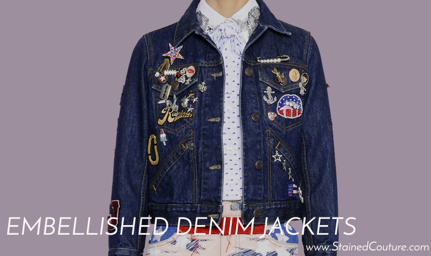 embellished denim jackets