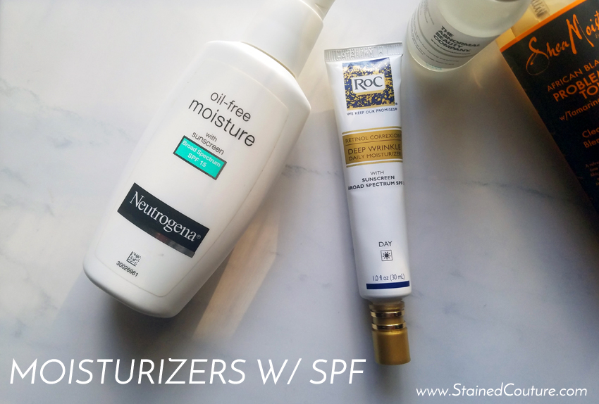 moisturizers with SPF