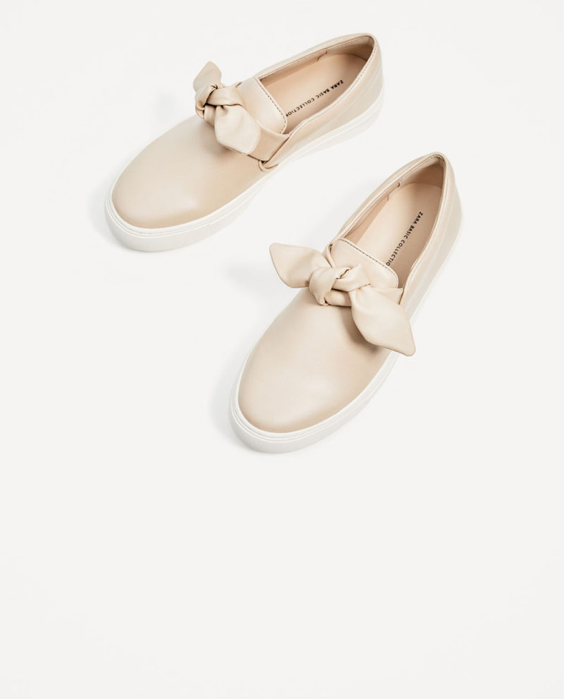 shoes from zara sneakers with bows