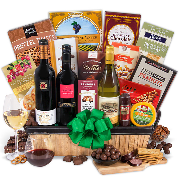 wine lovers gift basket