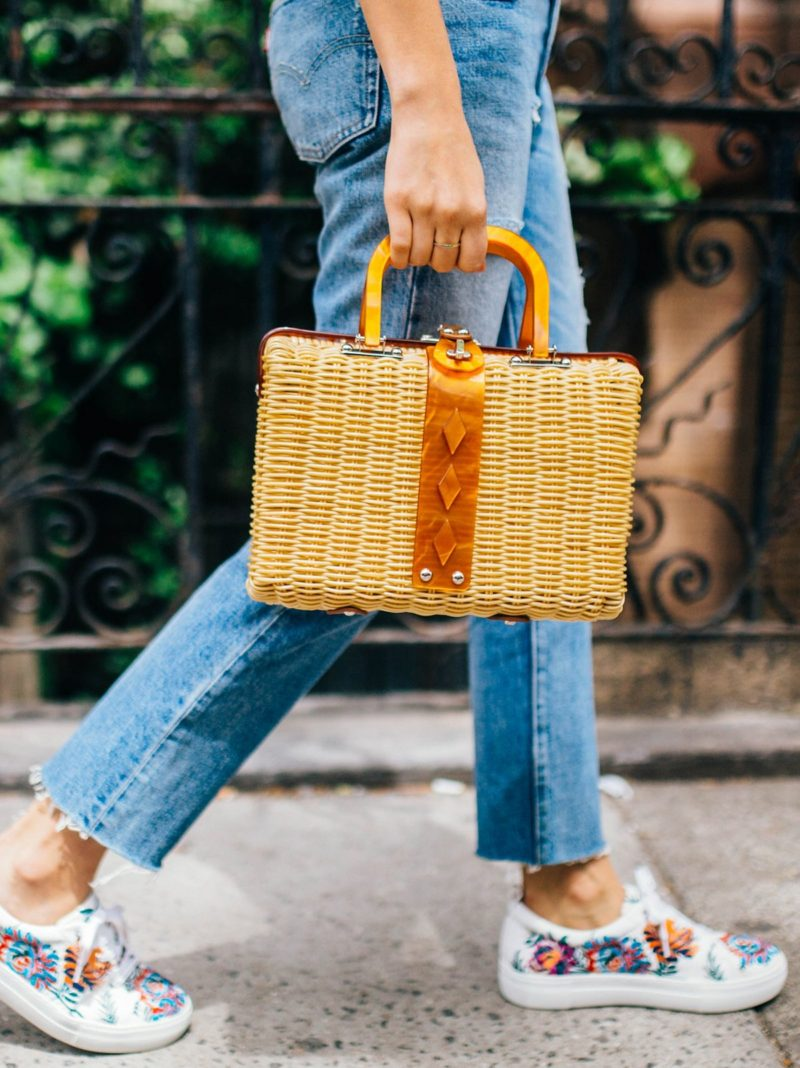 free people audry picnic basket straw bag
