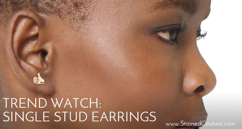 singel stud earrings