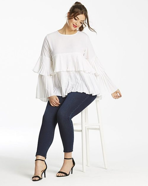 ruffled tiered statement sleeves