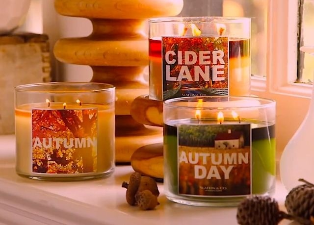 fall decor scented candles