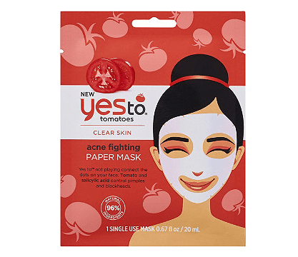 Drugstore Sheet Masks | Yes To Tomatoes Acne Sheet Mask